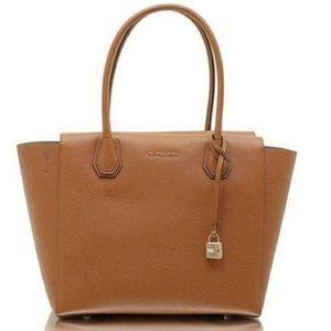 Michael Kors Brown Leather Mercer Tote Top Handle